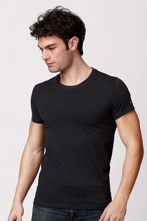 Pánske talianske tričko Enrico Coveri ET1504 Antracit bavlnené