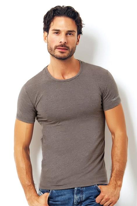 Pánske talianske tričko Enrico Coveri 1504 Brown