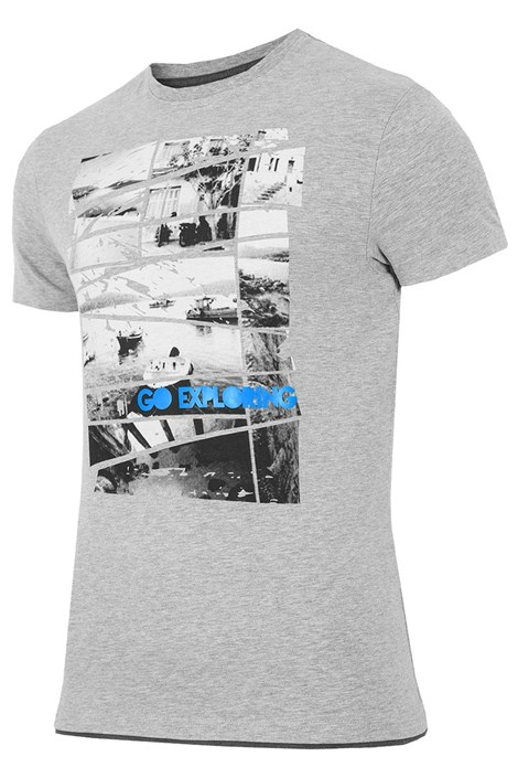 Pánske značkové tričko 4F TSM031 Grey