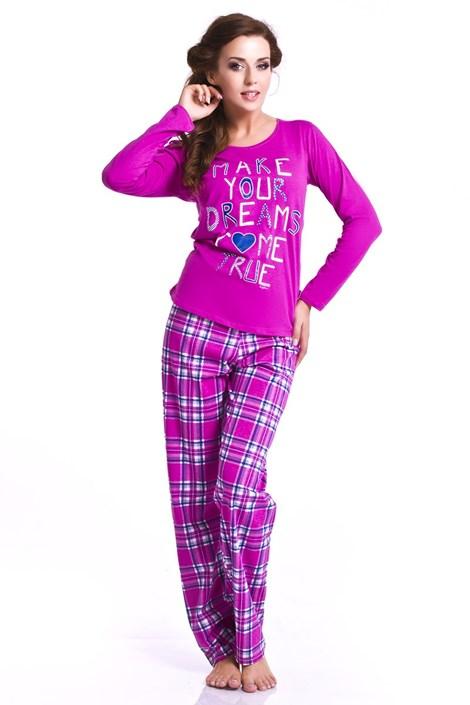 Dámske pyžamo Orchid - tmavoružové
