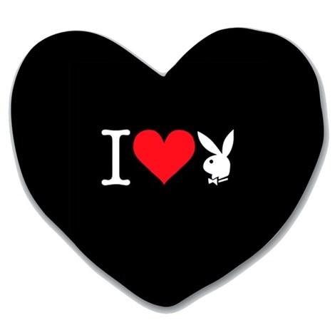Vankúšik Heart Bunny black