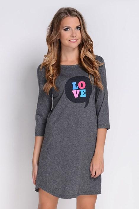 Dámska nočná košeľa Love Grafit