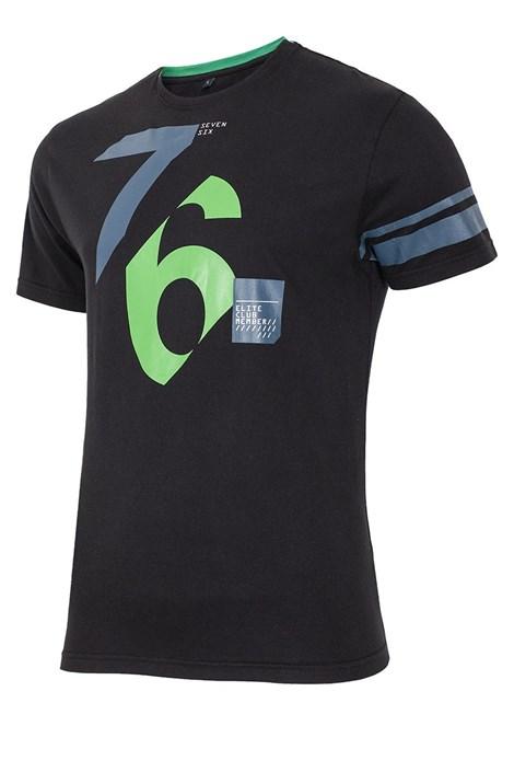Pánske bavlnené tričko 76 Black