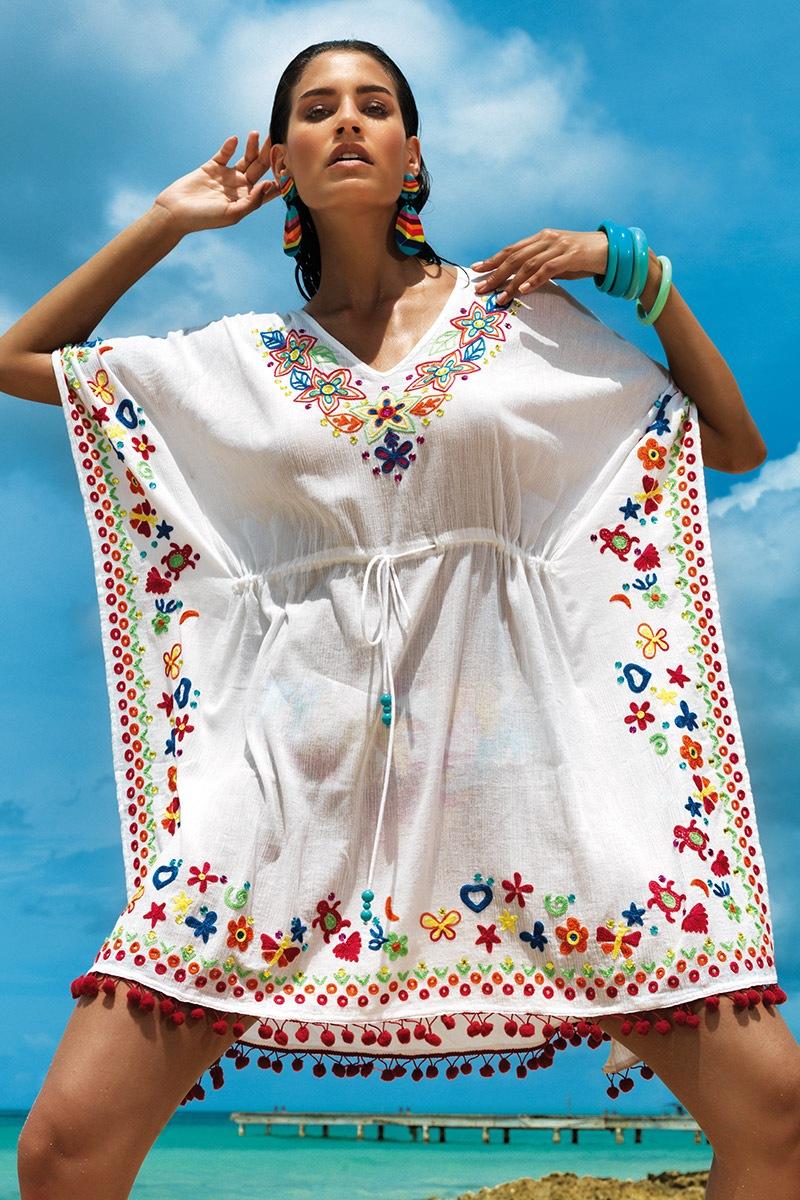 fcdc5890e9ce Dámske letné plážové šaty Sara z kolekcie Vacanze VI7042 sat ...