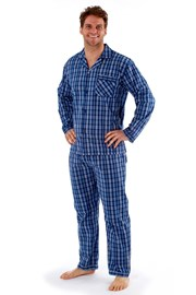 Pánske pyžamo Harvey Blue Check Long