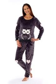 Dámske pyžamo Owl grafit