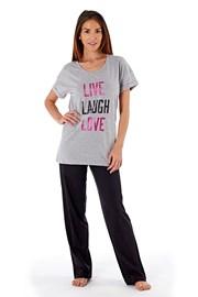 Dámske bavlnené pyžamo Laugh Grey