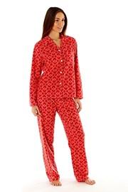 Dámske fleecové pyžamo Jennifer Red