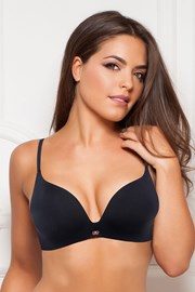 Podprsenka Gossard Black Push Up bez kostíc