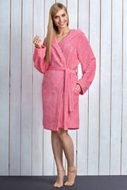 Dámsky župan Alba Pink z bambusového vlákna