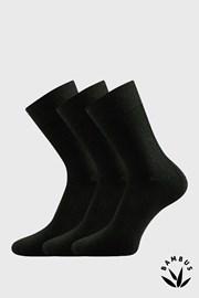 3pack ponožiek Badon černa bambus