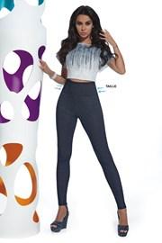 Dámske legíny v džínsovom dizajne Blair