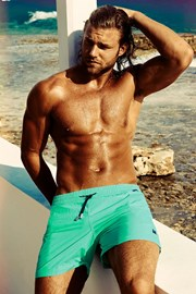 Pánske luxusné plavky Edgar Aquamarine
