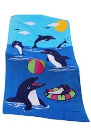 Detská plážová osuška Dolphin game