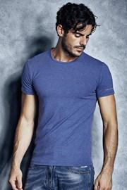 Pánske bavlnené tričko 1504 Cobalto
