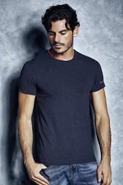 Pánske bavlnené tričko 1504 Mel Blue