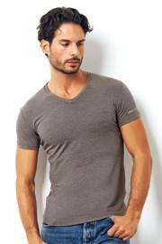 Pánske talianske tričko Enrico Coveri1505 Brown