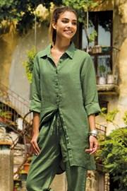 Dámske ľanové košeľové šaty Sherie Green z kolekcie Iconique
