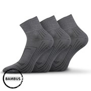 3pack ponožiek Raban tmavosivá bambus