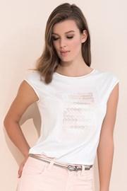 Dámske elegantné tričko s krátkymi rukávmi
