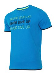 Pánske športové tričko Never give up
