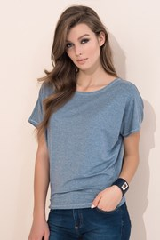 Dámske jednofarebné tričko Zafira Grey