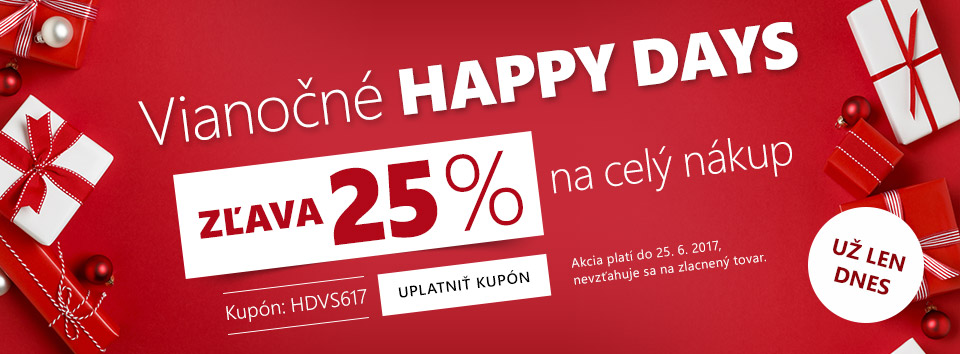 Happy days -25 %