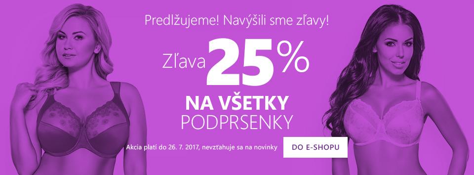 Všetky podprsenky -25 %