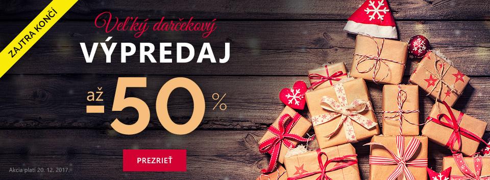 Vianočny vypredaj -50 %