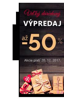 Vianočny vypredaj. Zľavy až 50 % naprieč ponukou.