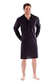 Pánska nočná košeľa Harvey Black Check