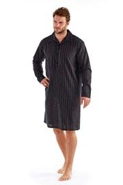 Pánska nočná košeľa Harvey Black Stripe