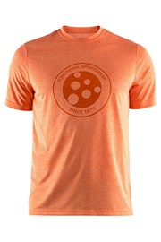 Tričko CRAFT Melange Graphic oranžové