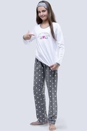 Dievčenské pyžamo Meow biele