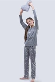Dievčenské pyžamo Meow sivé