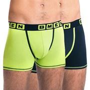 2 pack pánskych boxeriek BELLINDA BMEN zeleno-čierne