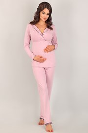 Materské, dojčiace pyžamo Coraline Pink