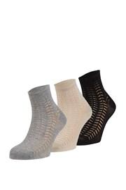 3 pack vzorovaných ponožiek Luisa
