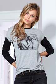 Dámske tričko Florinda sivé