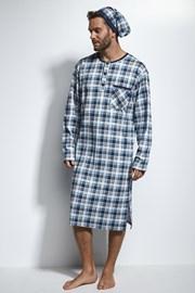 Pánska nočná košeľa s čapicou CORNETTE Blue