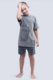 Chlapčenské pyžamo Live Untamed sivé