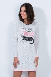 Dámska nočná košeľa Cat friend