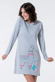Dámska nočná košeľa Lama šedá
