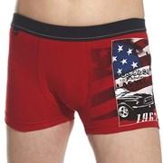 Chlapčenské boxerky America červené