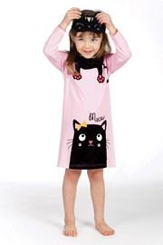 Dievčenská nočná košieľka Lina Pink Kitty