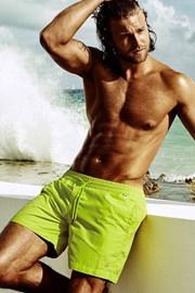 Pánske plavkové šortky DAVID 52 XL plus Caicco Lime