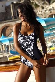 Dámske jednodielne sťahovacie curves plavky Fiji Black