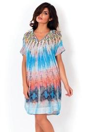 Dámske talianske plážové šaty David Mare, Python