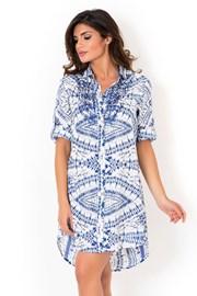 Dámske talianske košeľové šaty David Beachwear Graphic II.