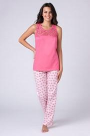 Dámske pyžamo Jersey ružové